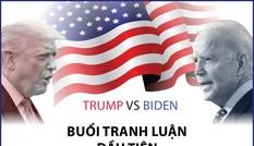 Buổi tranh luận đầu tiên: Những lập luận đáng chú ý của hai ứng viên tổng thống Mỹ