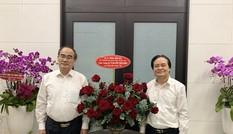 Bộ trưởng Phùng Xuân Nhạ thăm, chúc mừng các nguyên Bộ trưởng GD&ĐT