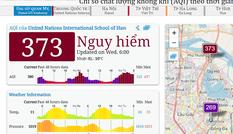 Ô nhiễm không khí lại vọt ngưỡng nguy hại vào sáng nay