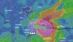 Bão số 9 dự báo đổ bộ đất liền vào sáng mai với sức gió giật cấp 15-16