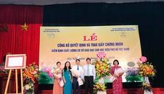 Lễ công bố quyết định và trao Giấy chứng nhận KĐCL giáo dục đối với HV Phụ nữ Việt Nam