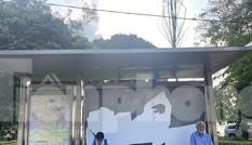 Cận cảnh trạm chờ xe buýt Thủ đô trước khi được duy tu
