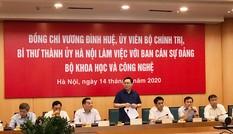 Lãnh đạo thành phố Hà Nội làm việc với Bộ KH&CN