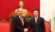 Trưởng Ban Tuyên giáo Trung ương tiếp đoàn đại biểu Hội LHTN Campuchia