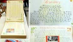 Ấn tượng bài thi viết về lực lượng công an khắc gỗ, chữ đẹp như in