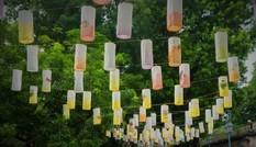 Phố bích họa Phùng Hưng treo đèn lồng đón Trung thu
