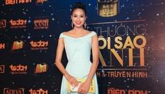 Người đẹp Top 10 Hoa hậu Việt Nam Phạm Hương kiều diễm dự tiệc
