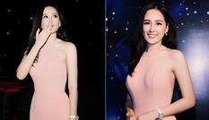 Mai Phương Thúy quyến rũ với váy hồng pastel