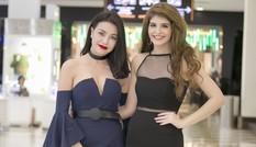 Trà Ngọc Hằng, Andrea Aybar 'đọ sắc' với váy cắt xẻ quyến rũ
