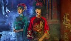 Siêu mẫu Hạ Vy, Phan Hà Phương ma mị với áo dài cổ