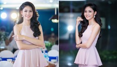 Á hậu Thanh Tú quyến rũ với váy xẻ gam màu pastel