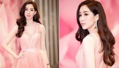 Hoa hậu Đặng Thu Thảo đẹp 'không tì vết' với sắc hồng pastel