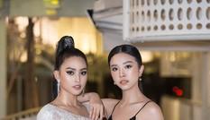 Hoa hậu Tiểu Vy, Á hậu Thuý An diện váy xẻ táo bạo khoe nhan sắc 'nữ thần'