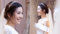 Á hậu Thuý Vân hé lộ ảnh đi thử váy cưới khiến fans trầm trồ vì quá xinh đẹp, gợi cảm