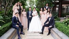 Dàn phù dâu, phù rể toàn 'cực phẩm' trong đám cưới Thuý Vân khiến fans ngây ngất