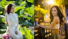 Mai Phương Thuý khoe eo thon sexy, Nguyễn Thị Loan đẹp dịu dàng với áo dài giữa đầm sen