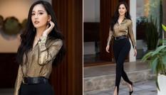 Mặc kín mít, Mai Phương Thuý vẫn đủ làm fans xao xuyến với màn khoe chân dài sexy