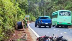 Tông ngược chiều với xe buýt đang đổ đèo, người đàn ông tử vong