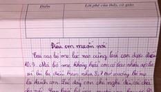 Bức thư cậu bé lớp 4 viết về áp lực điểm 10 khiến cha mẹ 'sốc nặng'