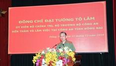 Đại tướng, Bộ trưởng Tô Lâm làm việc tại Công an Đồng Nai