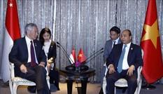 Thủ tướng Nguyễn Xuân Phúc gặp Thủ tướng Singapore Lý Hiển Long