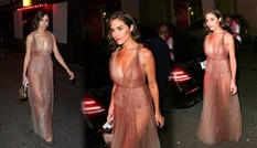 Hoa hậu Olivia Culpo diện váy xuyên thấu, không nội y gây chú ý