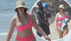 Siêu mẫu ngoại cỡ Iskra Lawrence diện bikini gợi cảm đi biển cùng bạn trai