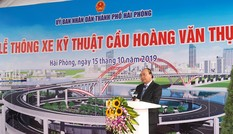"""Thủ tướng Nguyễn Xuân Phúc dự Lễ thông xe cây cầu """"cánh chim biển"""""""