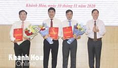 Khánh Hoà bổ nhiệm 4 lãnh đạo Sở Tài nguyên - Môi trường và Sở Xây dựng