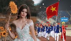Hoa hậu đồng hành cùng đoàn thể thao VN tại SEA Games 30 nóng bỏng cỡ nào?