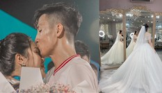 Bùi Tiến Dũng tặng Khánh Linh màn cầu hôn ngay tại trận đấu kèm tâm thư 'ngọt lịm'