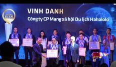 """MXH Hahalolo vinh dự nhận giải thưởng """"Công ty có sản phẩm công nghệ phục vụ khách du lịch"""