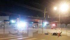 Xe tải tông hai người thương vong rồi bỏ trốn