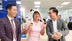 MC Diễm Quỳnh livestream bán hàng theo thử thách của MC Nguyên Khang