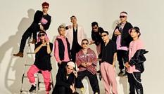 """Binz tung bộ ảnh với 9 chiến binh tại """"Rap Việt"""", toàn đội nổi bật với concept đen-hồng"""