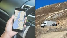Đi theo hệ thống định vị GPS, người lái xe tải bị mắc kẹt nhiều ngày ở vùng núi hiểm trở