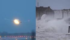 """Video: Máy bay chao đảo do cố hạ cánh khi đi vào vùng bão khiến hành khách """"đứng tim"""""""