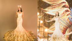 """Hình ảnh """"Nữ thần Kim Ưng"""" Tống Thiến do studio đăng tải khác một trời một vực ảnh thực tế"""