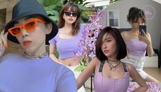 """Học sao Việt bắt trend """"tím lilac"""" - Màu sắc thời trang hot nhất mùa Hè năm nay"""