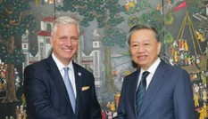 Đại tướng Tô Lâm hội đàm với Cố vấn An ninh quốc gia Hoa Kỳ