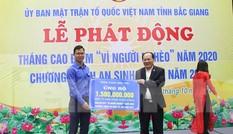Bắc Giang phát động ủng hộ đồng bào miền Trung và người nghèo