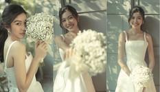 Á hậu Thúy Vân xinh đẹp và ngọt ngào trong trang phục cưới