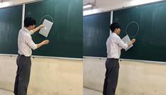 """Thầy giáo chơi lớn """"đu trend"""" cùng học sinh: Có tất cả nhưng lại thiếu thước kẻ!"""
