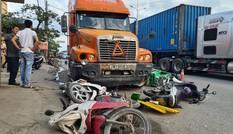 Tài xế container vi phạm nồng độ cồn, đâm liên hoàn xe máy ở Hải Phòng