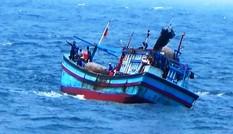 Tàu cá Bình Định cứu 5 ngư dân Phú Yên trên thúng chai trôi dạt trên biển