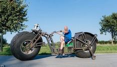 Tự chế xe đạp nặng gần 1 tấn để xác lập kỷ lục Guinness