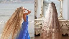 """Chiêm ngưỡng """"công chúa Rapunzel"""" đời thực với mái tóc vàng óng dài tận 1,8m"""