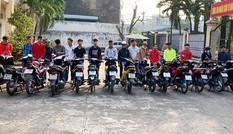 Công an chặn bắt hơn 100 'quái xế' tụ tập đua xe ở Biên Hòa