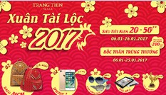 Xuân Tài Lộc 2017 cùng Tràng Tiền Plaza