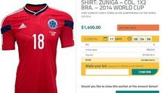 Bán áo 'hung thần' của Neymar với giá 10 nghìn đô